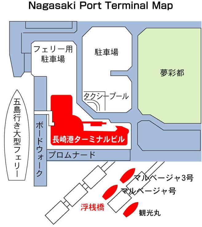 Nagasaki Port Terminal Map